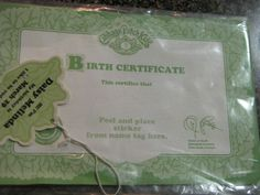 1000 images about cabbage patch kids on pinterest for Cabbage patch adoption certificate template