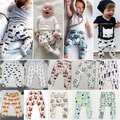 Summer Kids Baby Boys Girls Animal Pattern Leggings Harem PP Pants Trousers 0-4Y #Unbranded #Trousers #Everyday