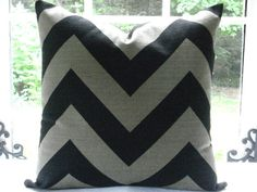 20X20 stone/black pillow cover $45.95 Etsy - thecottagecupboard