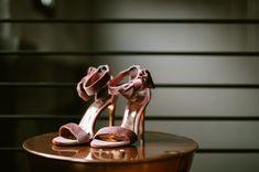 blush velvet heels