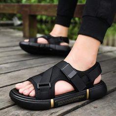 Black Sandals, Leather Sandals, Casual Shoes, Men Casual, Summer Shoes, Summer Sandals, Sport, Shoes Sandals, Flats