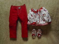 Skinny Jeans Set with Little girls   #100178 by CarolsDollCloset on Etsy