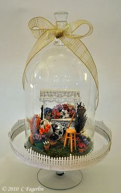 cutest cloche idea from The Little Round Table blog