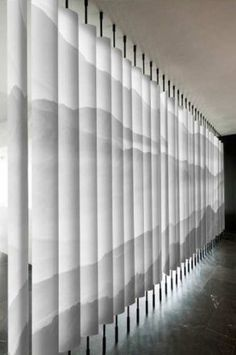 Untitled Lobby Interior, Interior Walls, Interior Architecture, Wall Design, House Design, Zen Design, Partition Screen, Dinning Chairs, Window Coverings