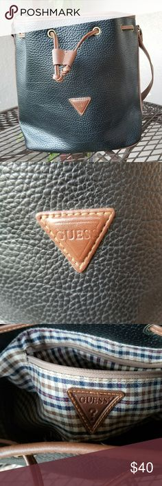 AUTHENTIC GUESS LARGE BUCKET PURSE NICE GUESS PURSE USED ONLY 4 TIMES Guess Bags