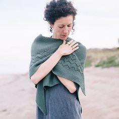 Paulina Popiolek does it again with today's release from Shawls 2017: Introducing Beryl. This shawl is all about the squish - garter stitch textured lace zigzags and glorious Chickadee wool (here in Sage). See the full collection so far through our profile link. Our final shawl is coming tomorrow! #quinceberyl #shawls2017 #quinceandco