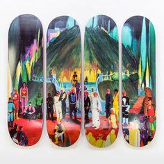 Studio Series Jules de Balincourt - Full Series by Girl Skateboard Companies, Skateboard Shop, Skateboard Decks, Saturated Color, Skateboards, Contemporary Artists, Presents, Fantasy, Studio