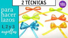 🎀Cómo hacer LAZOS de TELA fácil? Lazos con los DEDOS, de 1,2 y 3 argollas. Artwork, Packing, Diy, Youtube, Fabric Ribbon, Fabric Gifts, Wrap Gifts, Gift Ribbon, Modern Christmas Decor