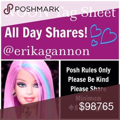 ⏰MONDAY SHAREBEAR SIGN UP⏰ All Poshmark Compliant Closets are Welcome! 💜Please tag only your closet name below💜Please share at least 8 For Sale Listings from the closets below💜Please take your time sharing these lovely closets! Sign Up closes at Noon EST but you have throughout the day to complete your POSHLOVE and shares. Please spread joy and love and lift up your fellow SHAREBEARS!💜  Please remember to sign out when finished and have FUN!💜 Miss Me Jeans Skinny