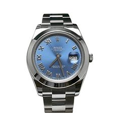 Rolex Datejust II 41 Blue Azzurro Roman Dial Steel Mens Watch 116300 *** This… Louis Vuitton Watches, Rolex Datejust Ii, Buy Rolex, Rolex Watches For Men, Automatic Watch, Roman, Jewels, Steel