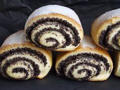 Kipróbált és bevált receptek: Mákos tekercs Hungarian Desserts, Doughnut, Cheesecake, Muffin, Food And Drink, Sweets, Cookies, Baking, Breakfast