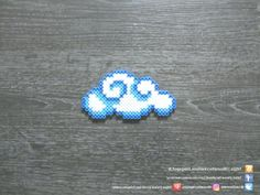 Nuage Perles Hama / Cloud Perler Beads - Minecraft World 2020 Easy Perler Bead Patterns, Melty Bead Patterns, Perler Bead Templates, Diy Perler Beads, Perler Bead Art, Pearler Beads, Fuse Beads, Peyote Patterns, Mini Hama Beads