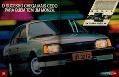 1989 - Chevrolet Monza - Brasil General Motors, Dodge Ram 1500 Accessories, Chevy, Volkswagen, Chevrolet Monza, Toyota, Car Advertising, Car Drawings, Old Ads