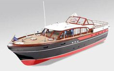 Large 1/20 Chris Craft Constellation 30-inch Boat Model.