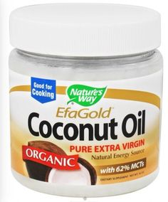 Nature's Way EfaGold. Organic, Pure Extra Virgin Coconut Oil, 32-Ounce Jar, New