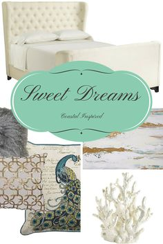 The Tully Board - Bedroom decor inspired by coastal colors Coastal Colors, Design Boards, Bedroom Decor, Inspired, Blog, Inspiration, Biblical Inspiration, Decorating Bedrooms, Inspirational