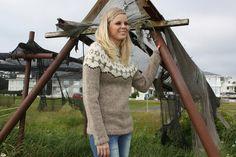 Icelandic wool sweater Mt Herdubreid by diza on Etsy, $195.00