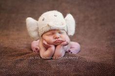 Hand Knit Angora Elephant Hat by Nantucket Knitter