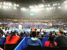 The loud crowd at #IPTL2015 #Delhi final as Roger Federer Rafael Nadal Sania Mirza and more walked onto the courts. #tennis #sports #India #YasserGoes2IN - December 12 2015 at 07:00PM
