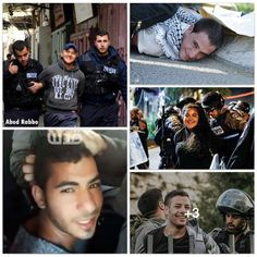 Smile because you are the brave, honourable ones fighting for your just cause..the lions among the sheep. These Palestinian youth smile while being arrested for fighting for their homeland. Against oppression. Against genocide. Bravo.