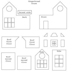 gingerbread house templates - Cerca con Google