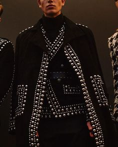 At @balmain olivier_rousteing paid tribute to the musical legends who left us in 2016 describing them as 'men who paired hyper-masculine who-gives-a-fuck primal screams with eye-catching looks that consistently challenge accepted standards and fluidity'. See more from the show at http://ift.tt/1qOy9zk  @lucieroxxx  via DAZED AND CONFUSED MAGAZINE OFFICIAL INSTAGRAM - Fashion  Culture  Advertising  Editorial Photography  Art  Music  Film