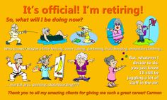 """And although I am retiring, I am looking forward to blogging a lot more, too! But I will keep you """"posted"""" :-)"""