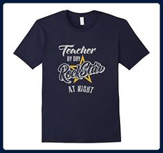 Mens Teacher By Day Rockstar By Night T-Shirt 3XL Navy - Careers professions shirts (*Amazon Partner-Link)