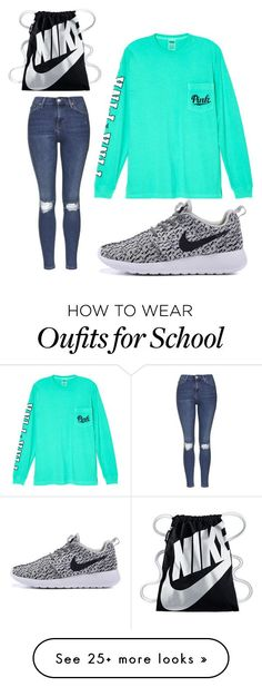 """Middle school"" by kaileywilliams1215 on Polyvore featuring Topshop, Victoria's Secret and NIKE"