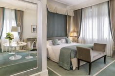 Savoia Excelsior Palace is a luxury hotel in Trieste. Discover our junior suites with balcony with stunning views across Trieste's historic port. Trieste, Palace, Luxury, Room, Wedding, Furniture, Home Decor, Bedroom, Valentines Day Weddings