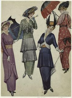 """Women in dresses, United States, 1910s.  Written on mount: """"1914.""""  NYPL Digital Gallery"""