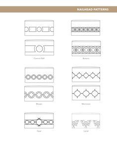 Nailhead patterns