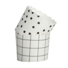 Muffin cups, 25 pc stars - xmas at home - xmas
