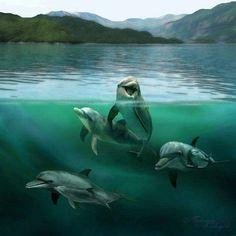 Jurgens Pod by Tammara on DeviantArt Pilot Whale, Dolphins Tattoo, Sea World, Wildlife Art, Candyland, Mammals, Shark, Cute Pictures, Ocean