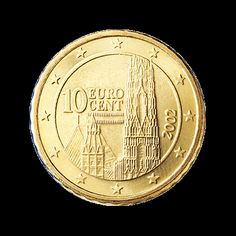 Austria: 10 Euro Cent Coin (National Side)