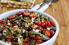 Grilled Eggplant, Grape Tomato, and Feta Salad with Amazing Basil, Parsley, and Caper Sauce — Punchfork