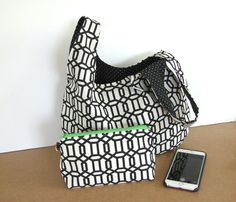Ladies Handbag Tote Bag Matching Cosmetic Bag by OvationStudio
