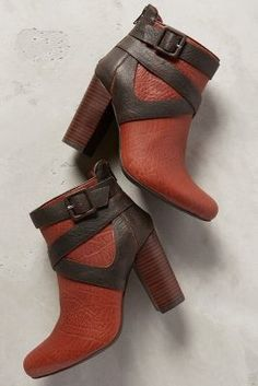 Farylrobin Trinka Booties Brown Boots #anthrofave #anthropologie