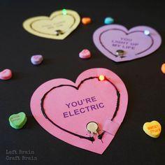 Light Up Circuit Valentines - Left Brain Craft Brain Scientist Emblem