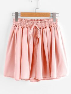 Shorts by BORNTOWEAR. Drawstring Waist Chiffon Shorts