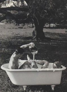 bathtub outside.  make this happen.