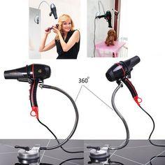 Pets dog grooming bathing beauty hair dryer hairdryer mounting bracket 360 degree adjusted metal hose Stainless steel bracket