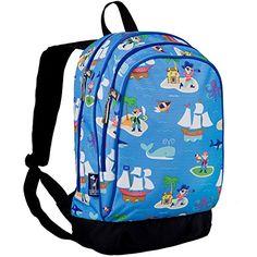Wildkin Olive Kids Pirates Pack 'n Snack Backpack - Blue Pirates ...