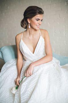 d27b284384 Geometric Pattern Hayley Paige Wedding Dress Geometric Patterns