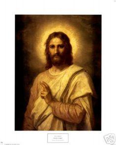 Religious Art Print Figure of Christ Jesus Portrait | eBay
