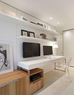 Clean na medida certa. Veja: http://casadevalentina.com.br/projetos/detalhes/clean-na-medida-600 #decor #decoracao #interior #design #casa #home #house #idea #ideia #detalhes #details #style #estilo #casadevalentina #clean #office #homeoffice