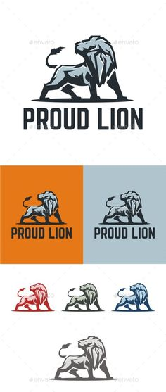 Proud Lion Logo Template #design #logotype Download: http://graphicriver.net/item/proud-lion/13027093?ref=ksioks