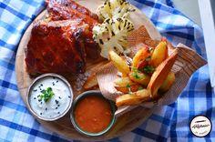 Coaste fragede de porc la cuptor Jamie Oliver, Barbecue, Camembert Cheese, Dairy, Recipes, Food, Barrel Smoker, Recipies, Essen