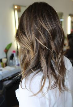 Natural highlights for brunettes - balayage