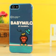 A bathing ape baby milo case for iphone 5 deep blue